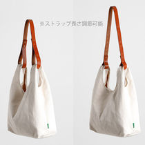 GREEN STUFF Totes Canvas Street Style A4 Plain Oversized Logo Totes 11