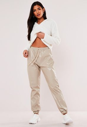 Missguided Casual Style Faux Fur Plain Street Style