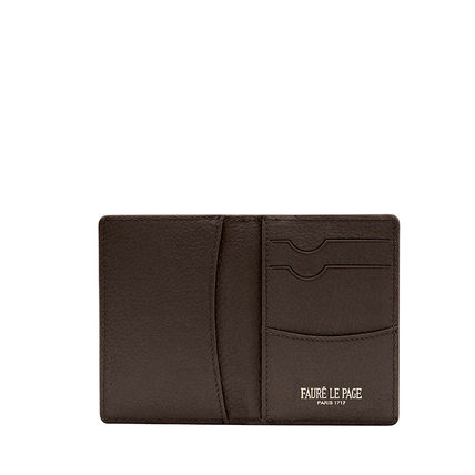 Street Style Leather Folding Wallet Small Wallet Logo