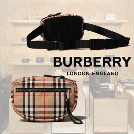 Burberry Tartan Unisex 2WAY Belt Bags