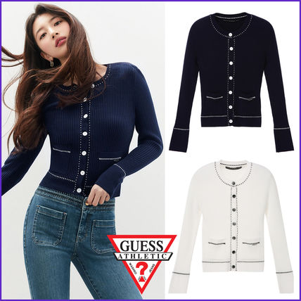 Casual Style Long Sleeves Plain Medium Elegant Style