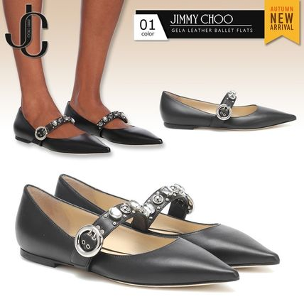 Jimmy Choo Casual Style Plain Leather With Jewels Elegant Style