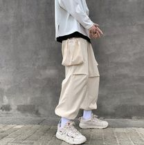 Street Style Plain Oversized Cropped Pants