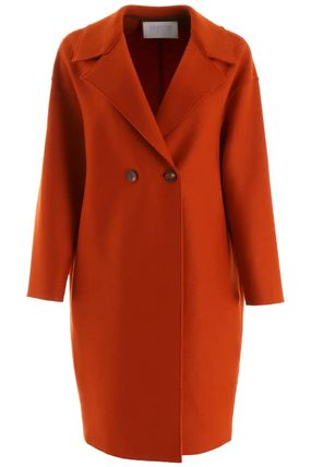 Casual Style Wool Office Style Coats