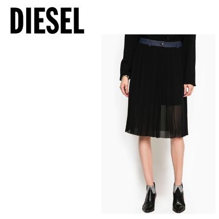 DIESEL Flared Skirts Casual Style Denim Blended Fabrics