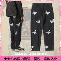 SALUTE Printed Pants Denim Street Style Other Animal Patterns