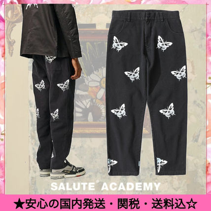 Printed Pants Denim Street Style Other Animal Patterns