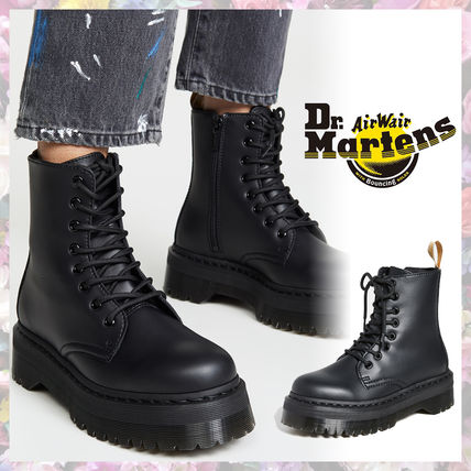 Dr Martens Platform Round Toe Rubber Sole Lace-up Casual Style