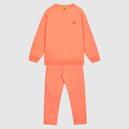 Unisex Street Style Collaboration Kids Girl Roomwear