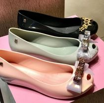 Melissa Open Toe Rubber Sole Casual Style PVC Clothing Elegant Style
