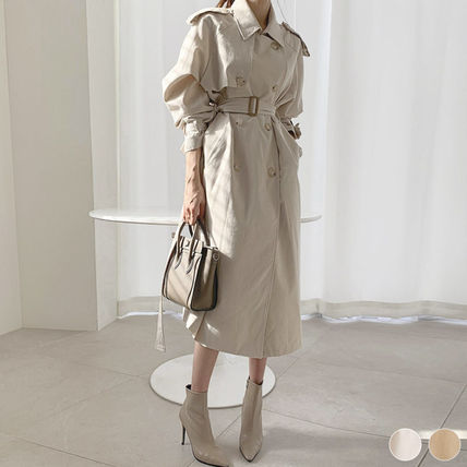 Formal Style  Front Button Casual Style Plain Long