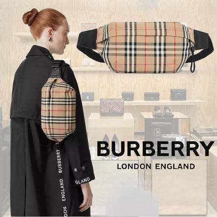 Burberry Tartan Unisex 2WAY Hip Packs