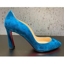 Christian Louboutin Suede Plain Leather Party Style Elegant Style Formal Style