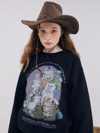 SCULPTOR Unisex Street Style Long Sleeves Cotton