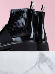 Round Toe Leather Block Heels Boots Boots