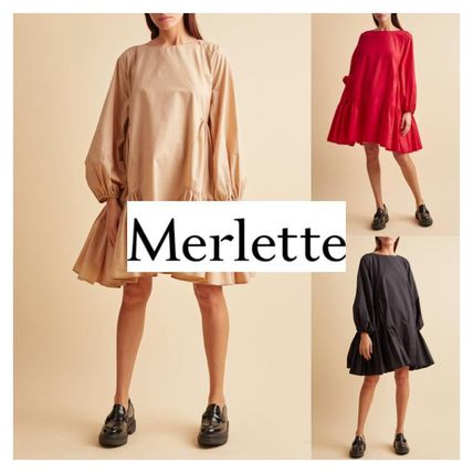 Short Casual Style A-line Plain Cotton Tired Dresses