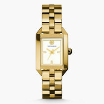 Tory Burch Casual Style Square Quartz Watches Stainless Office Style