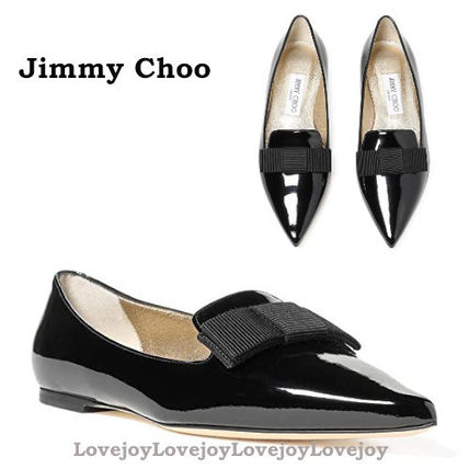 Jimmy Choo Casual Style Plain Leather Office Style Elegant Style
