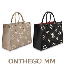 Louis Vuitton MONOGRAM Monogram Unisex A4 2WAY Leather Totes