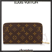 Louis Vuitton ZIPPY WALLET Monogram Unisex Calfskin Canvas Leather Long Wallet  Logo