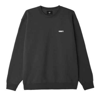 OBEY Sweatshirts Crew Neck Pullovers Unisex Sweat Blended Fabrics U-Neck 2