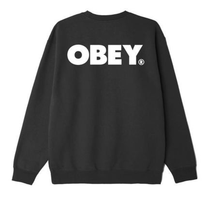 OBEY Sweatshirts Crew Neck Pullovers Unisex Sweat Blended Fabrics U-Neck 3