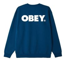 OBEY Sweatshirts Crew Neck Pullovers Unisex Sweat Blended Fabrics U-Neck 7