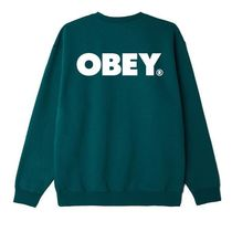 OBEY Sweatshirts Crew Neck Pullovers Unisex Sweat Blended Fabrics U-Neck 9