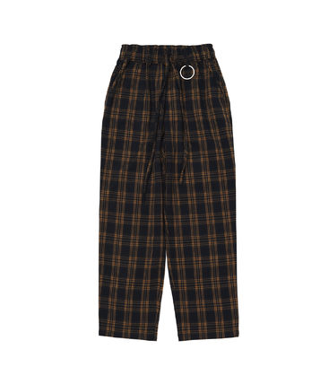 JUNGKOOK'S [A NOTHING ] ALMAS CHECK LOOSE-FIT PANTS