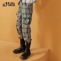 ELF SACK Printed Pants Other Plaid Patterns Casual Style Unisex