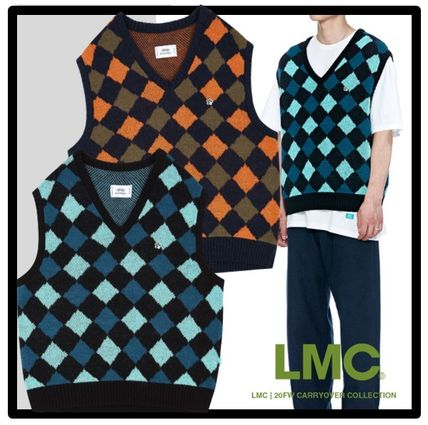 87MM Casual Style Unisex Street Style Vests