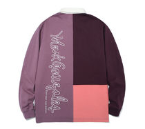 Mark Gonzales Shirts Unisex Street Style Bi-color Long Sleeves Oversized Polos 4