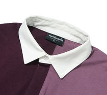Mark Gonzales Shirts Unisex Street Style Bi-color Long Sleeves Oversized Polos 5