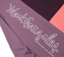Mark Gonzales Shirts Unisex Street Style Bi-color Long Sleeves Oversized Polos 9
