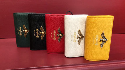 GUCCI Plain Other Animal Patterns Leather Logo