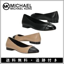 Michael Kors Monogram Plain Toe Round Toe Rubber Sole Casual Style Plain