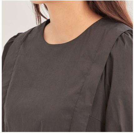 Short Casual Style A-line Flared Cropped Plain Medium
