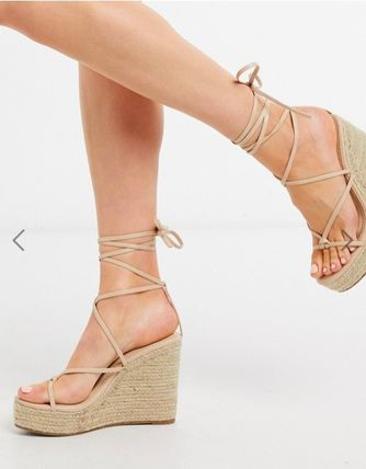 Open Toe Casual Style Plain Party Style Elegant Style