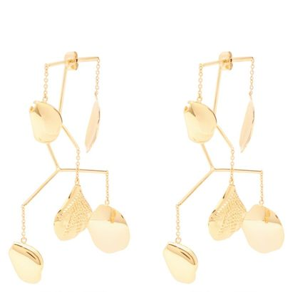 Casual Style Flower Party Style 18K Gold Elegant Style