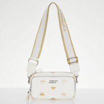 STRETCH ANGELS Shoulder Bags Casual Style 2WAY Plain Crossbody Logo Shoulder Bags 10