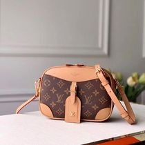 Louis Vuitton Monogram Casual Style Leather Crossbody Shoulder Bags