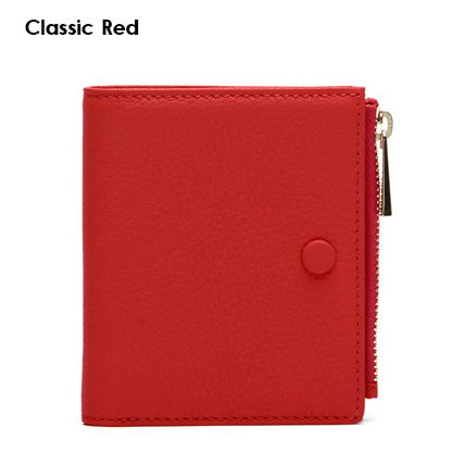Plain Leather Small Wallet Folding Wallets