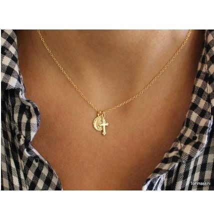 Casual Style Cross Chain Handmade Silver 14K Gold