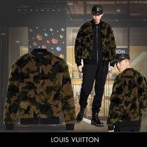 Louis Vuitton Camouflage Wool Blended Fabrics Street Style MA-1