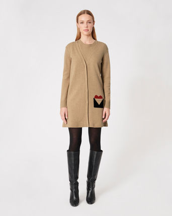 Paule Ka Wool Cashmere Long Sleeves Office Style Cashmere