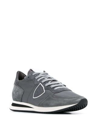 Logo Suede Leather Street Style Sneakers