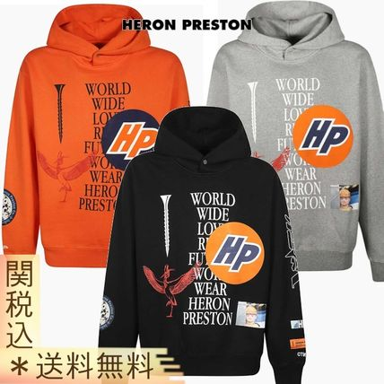 Pullovers Street Style Long Sleeves Cotton Oversized Logo