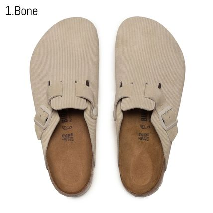 Stripes Unisex Suede Collaboration Loafers & Slip-ons