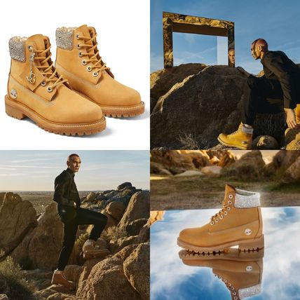 Jimmy Choo Mountain Boots Street Style Collaboration Plain Leather