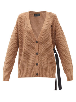 Casual Style Wool V-Neck Long Sleeves Plain Office Style